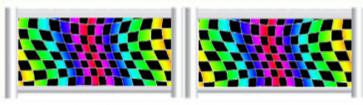 Multi Colour Cheq Standing Filler
