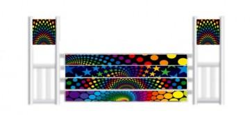 Multi Colour Plank Jump