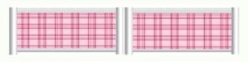 Pink Tartan Standing Filler