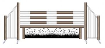 Wheat Grass Working Hunter Jump