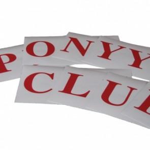 Pony Club Vinyl Letter Set
