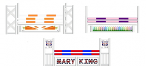 Mary King 3 Jump Feature Course