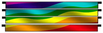 Rainbow Wave Plank Set