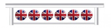 Union Jack Button Hanging Filler