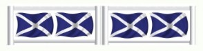 Scottish Flag Standing Filler